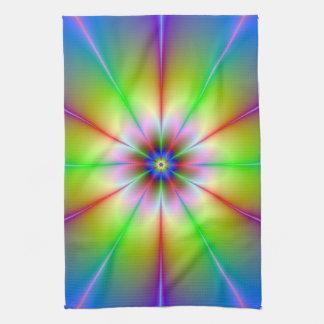Toallas del fractal de la flor