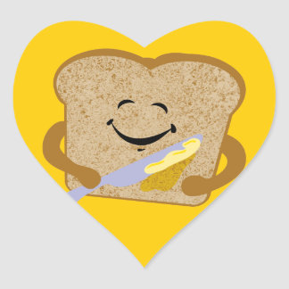 Toast And Butter Heart Sticker