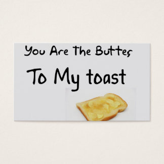 Toast Bread Love Words Business Card