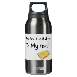 Toast Bread Love Words Insulated Water Bottle