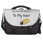 Toast Bread Love Words Laptop Computer Bag