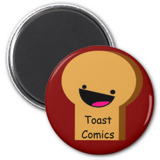 Toast Comics Button 2 Inch Round Magnet