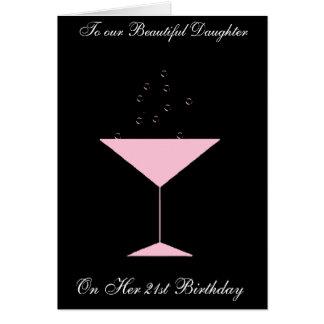 TOAST DAUGHTER 21ST BIRTHDAY CARD