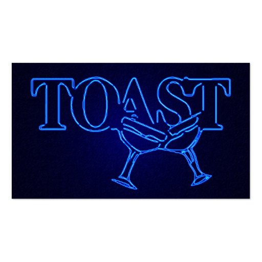 toast : electro lounge Double-Sided standard business cards (Pack of 100)