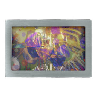 Toast in New Year celebration party. Rectangular Belt Buckle