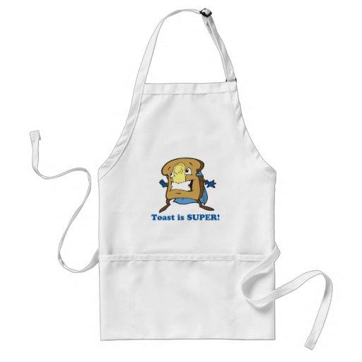 toast is super adult apron