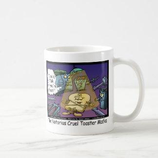 Toast Mafia Funny Offbeat Cartoon Gifts & Tees Coffee Mug