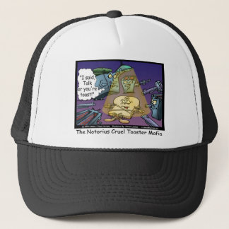 Toast Mafia Funny Offbeat Cartoon Gifts & Tees Trucker Hat