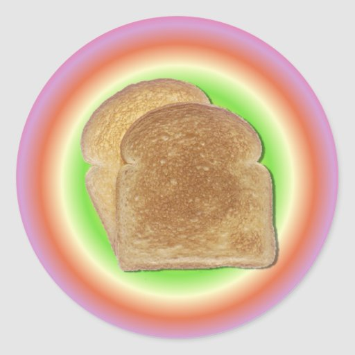 Toast On A Plate Sticker