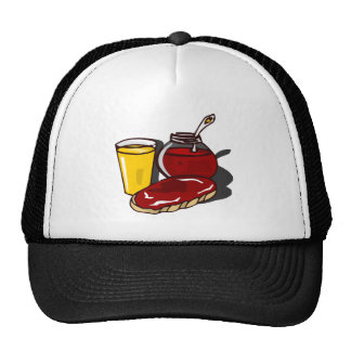 Toast, orange juice and jam trucker hats