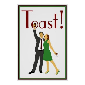 Toast! Poster print