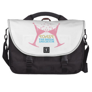 Toast The Bride And Groom Laptop Bags