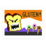 Toast, The Gluten Menace: 8-Bit Style Postcards