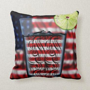 USA Themed Toast to America Throw Pillow