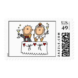 Toast to Bride and Groom Postage Stamps