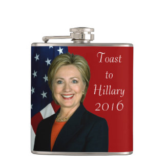 Toast to Hillary 2016 Hip Flask