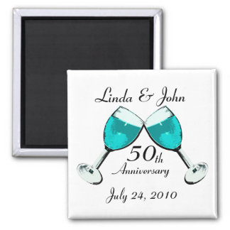 Toast to Love 2 Inch Square Magnet