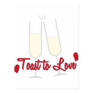 Toast To Love Postcard