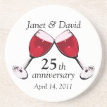Toast to Love/ Red Wine Drink Coasters