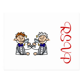 Toast to the Grooms Postcard