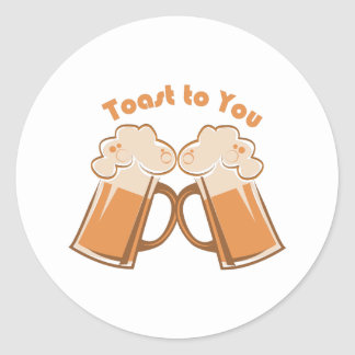 Toast to You Classic Round Sticker