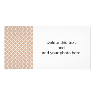 Toasted Almond and White Quatrefoil Moroccan Patte Card