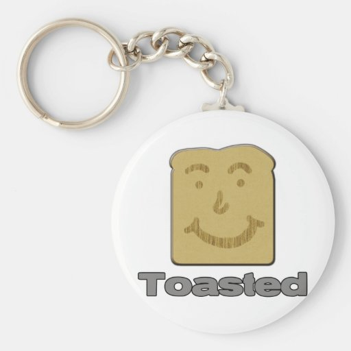 Toasted Basic Round Button Keychain
