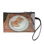 Toasted bread in a plate coin wallets