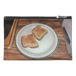 Toasted bread in a plate travel accessory bags