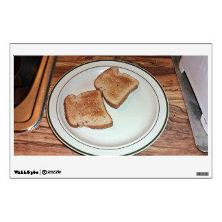 Toasted bread in a plate wall sticker