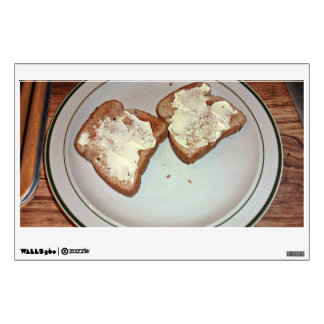 Toasted bread with butter in a plate room graphics