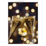 Toasted champagne flute, close-up cards