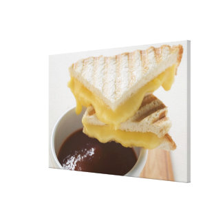 Toasted cheese sandwiches & a cup of tomato soup canvas print