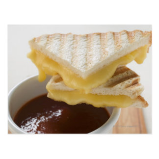 Toasted cheese sandwiches & a cup of tomato soup postcard