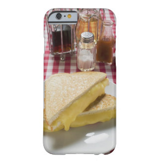 Toasted cheese sandwiches on plate, vinegar, barely there iPhone 6 case