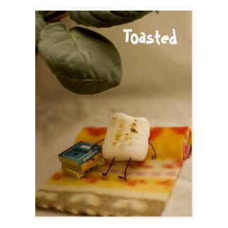 Toasted Marshmallow on Vacation Postcard