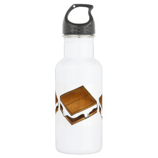 Toasted Marshmallow Smore Smores Camp Water Bottle