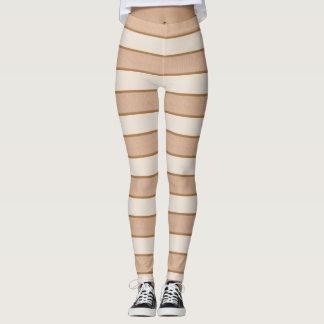 Toasted Marshmallow Stripes Leggings