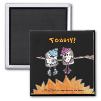 Toasted Marshmallows 2 Inch Square Magnet