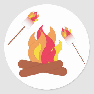 Toasted Marshmallows Classic Round Sticker