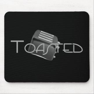 Toasted - Retro Toaster - B&W Negative Mouse Pad