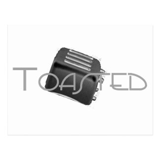 Toasted - Retro Toaster - B&W Negative Postcard