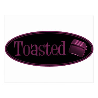 TOASTED Retro Toaster - Black & Pink Postcard