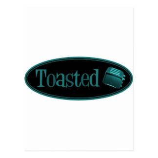 TOASTED Retro Toaster - Black & Turquoise Postcard
