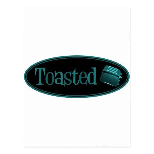 TOASTED Retro Toaster - Black & Turquoise Postcard