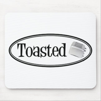 TOASTED Retro Toaster - Black & White Mouse Pad