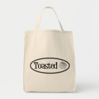TOASTED Retro Toaster - Black & White Tote Bag