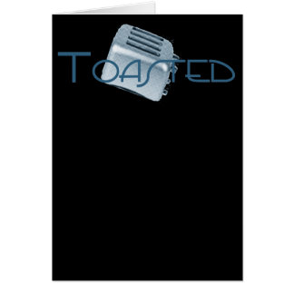 Toasted - Retro Toaster - Blue Greeting Card