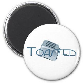 Toasted - Retro Toaster - Blue Magnet