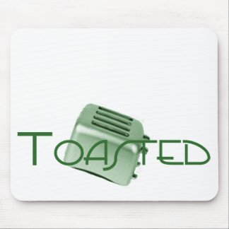 Toasted - Retro Toaster - Green Mouse Pad